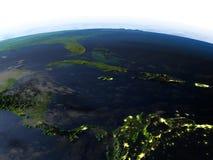 Северно Вест-Инди на ноче на земле планеты бесплатная иллюстрация