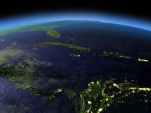 Северно Вест-Инди на ноче иллюстрация штока