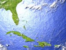 Северно Вест-Инди на реалистической модели земли бесплатная иллюстрация