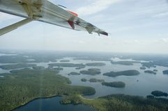 северно над взглядом sk Стоковое Изображение RF