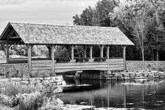 Северные мост и маяк Мичигана Стоковые Изображения RF