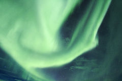Северные света в Исландии Стоковое Фото