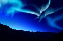 Северные света (северные сияния) Стоковые Фото