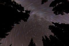 Северные следы звезды звезды Стоковое фото RF