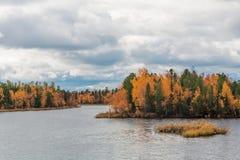 Северный ландшафт, осень Стоковое Фото