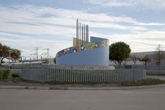 Северный взгляд станции Carrollton Frankford Стоковые Изображения