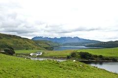 северный взгляд skye Шотландии Стоковая Фотография RF