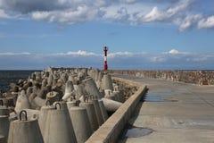 Северный волнорез Baltiysk до 1946 - Pillau, Kal стоковая фотография rf