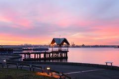Северный восход солнца берега, Ванкувер, ДО РОЖДЕСТВА ХРИСТОВА, Канада Стоковые Фотографии RF