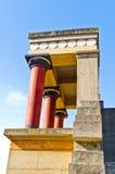 Северный вход к дворцу Knossos - профилируйте крупный план Стоковая Фотография RF
