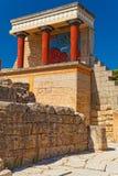 Северный вход к дворцу Knossos, острову Крита Стоковые Фотографии RF