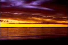 северный заход солнца Стоковые Фото