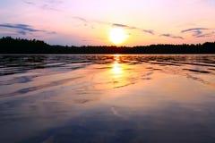 северный заход солнца wisconsin Стоковые Фотографии RF