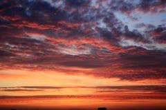 Северный заход солнца Стоковые Изображения
