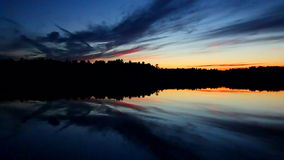 Северный заход солнца Cloudscape Висконсина сток-видео
