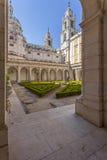 Северный монастырь дворца, монастыря и базилики Mafra национальных Стоковое Изображение RF