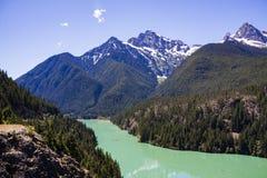 Северный национальный парк каскадов - озеро Диабло Стоковое фото RF