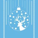 Северный олень в шарике xmas Стоковые Фото