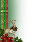 северный олень рождества граници Стоковая Фотография