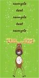 северный олень рождества карточки Стоковые Фотографии RF