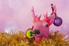 Северный олень рождества с орнаментами стоковая фотография