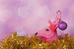Северный олень рождества с орнаментами Стоковое фото RF