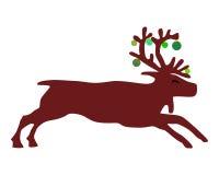 северный олень рождества шариков Стоковое фото RF