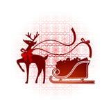 Северный олень с нордический предпосылкой Стоковое Изображение