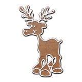 северный олень gingerbread Стоковое фото RF