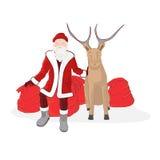 северный олень santa claus Стоковая Фотография RF