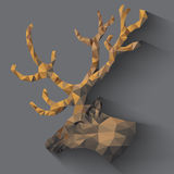 Северный олень в треугольниках Стоковое фото RF