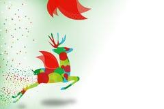 северный олень летая абстрактная предпосылка Стоковое Изображение RF