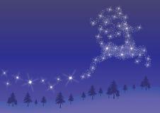 Северный олень звезды Стоковое фото RF