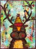 Северный олень мультимедиа Стоковая Фотография