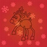 Северный олень рождества вектора Стоковая Фотография