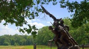 Северный памятник Каролины на Gettysburg Стоковое фото RF