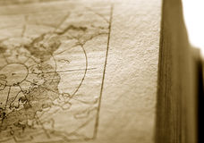 Северный полюс карты Стоковое Фото