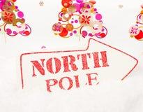 Северный полюс к Стоковая Фотография