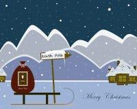 Северный полюс рождества иллюстрация штока