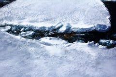 Северный полюс 2016 Лед и отверстия на параллели 84-88 Стоковое Фото