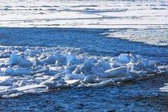 Северный полюс 2016 Лед и отверстия на параллели 84-86 Стоковое Изображение