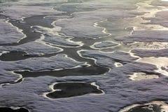 Северный полюс 2016 Лед и отверстия на параллели 84-88 Стоковая Фотография RF