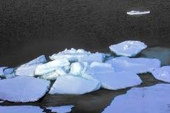 Северный полюс 2016 Лед и отверстия на параллели 84-88 Стоковая Фотография