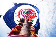 Северный тайский поляк церемонии благословением стиля стоковые фото