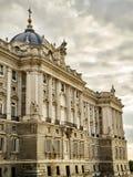Северный фасад королевского дворца madrid Испания стоковая фотография rf