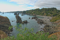 Северный CA около пляжа и Тринидада Luffenholtz Стоковое Изображение RF