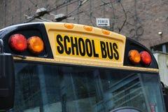 Североамериканский крупный план школьного автобуса Стоковые Изображения RF