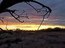 Северо-западный заход солнца Стоковые Изображения