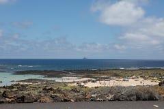Север на Лансароте там также славные пляжи Стоковое Фото
