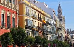 Севилья, Испания, Андалусия, старый городок Стоковое Фото